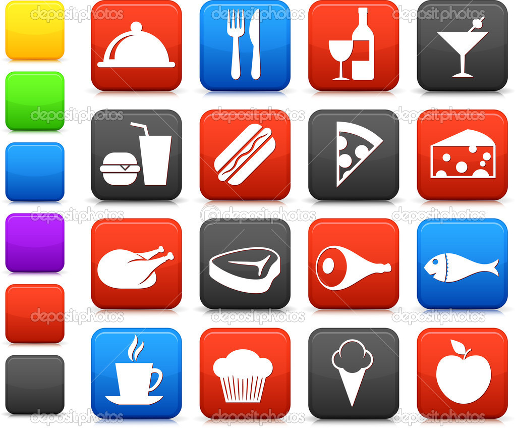 Original vector illustration: food and drink icon collection — Stock Vector #6029563