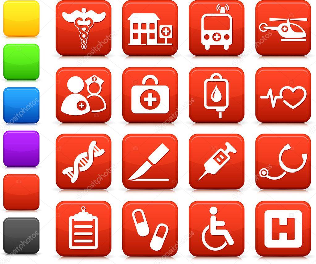 医疗医院互联网图标集合