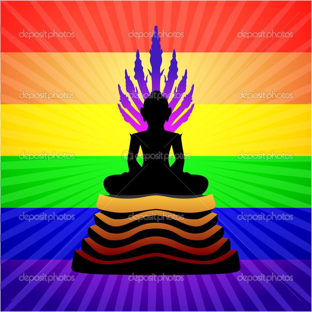 Buddha StatueOriginal Vector Illustration  Stock Vector #6029586