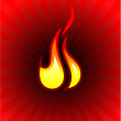 Fire Flame — Stock Vector
