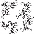 Abstract Black and White Design Pattern  — Vettoriali Stock