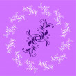 Abstract Purple Design Pattern - Stock Vector