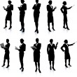 Businesswoman Silhouette Collection — Stock Vector #6030299