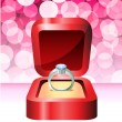 Royalty-Free Stock Vector Image: Diamond Valentine\'s Day design background