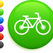 Bicycle icon on round internet button — Stock Vector #6030412