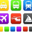 Transportation icon on internet buttons - Image vectorielle