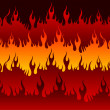 Stock Vector: Fire in Hell