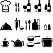 图库矢量图片: Cooking items internet icon collection