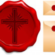Royalty-Free Stock Vector Image: Cross on Wax Seal