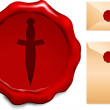 Royalty-Free Stock Vector Image: Sword wax seal