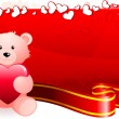 Teddy bear romantic Valentine's Day design background — Vektorgrafik