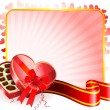 Royalty-Free Stock Vector Image: Dark Chocolate box Valentine\'s Day design background
