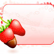 Strawberry Valentine's Day design background — Image vectorielle
