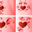 Romantic hearts Valentines Day design background - Stock Vector