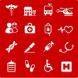 Royalty-Free Stock Vector: Medical hospital  internet icon collection