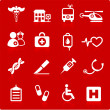 Royalty-Free Stock Vector Image: Medical hospital  internet icon collection