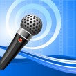 Royalty-Free Stock ベクターイメージ: Microphone on film reel background