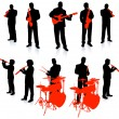 Live Music Band Collection — Stock Vector