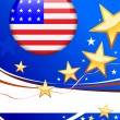 Royalty-Free Stock Векторное изображение: American Flag Button on Patriot Background