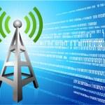 Digital Radio tower wave modern Background — Stock Vector #6031125