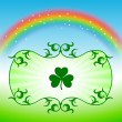 St. Patrick's Day Design elements on rainbow background — Stock Vector