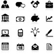 Stock Vector: Business and communication icon set