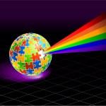 Multi Colored Globe — Stock Vector