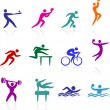 Sports icon collection - Stock Vector