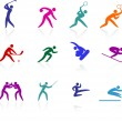 Competative and olympic sports icon collection — Stock Vector #6031364