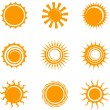 Stock Vector: Sun Icons
