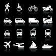 Transportation icons design elements — Stock Vector #6031497