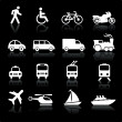 Transportation icons design elements - Stock Vector