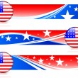 Royalty-Free Stock Векторное изображение: American Flag Button with Banners
