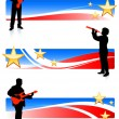 Musical Band with Patriotic Banners — Stock Vector #6031520