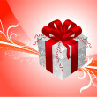 Royalty-Free Stock Vector Image: Gift on red Background