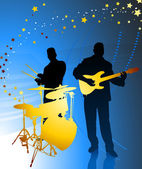 Live Music Band — Stock Vector