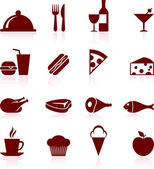 Gourmet food icon set — Stock Vector