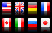 World flag series World flag series G8 countries — Stock Vector