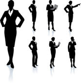 Businesswoman Silhouette Collection — Stock Vector