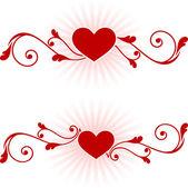 Romantic hearts Valentine's Day design background — Stockvector