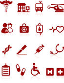 Medical hospital internet icon collection — Stock Vector