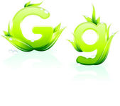 Letter G for Green Environmental Conservation Background — Stock Vector