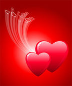 Romantic hearts Valentine's Day design background — Vecteur
