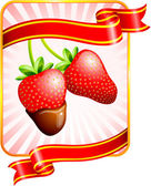 Strawberry Valentine's Day design background — Stock Vector