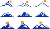 Mountain Icons — Stock Vector