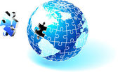 Incomplete Globe Puzzle — Stock Vector