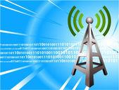 Digital Radio tower wave modern Background — Stock Vector