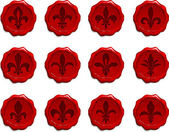 Fleur de lis 蜡密封套 — 图库矢量图片