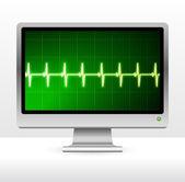 Impulsi sul monitor del computer schermo — Vettoriale Stock