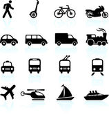 Transportation icons design elements — Vector de stock